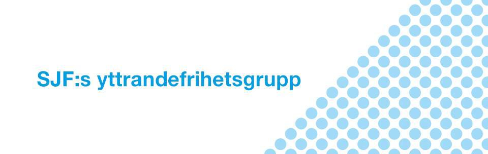 SJF:s Yttrandfrihetsgrupp logga