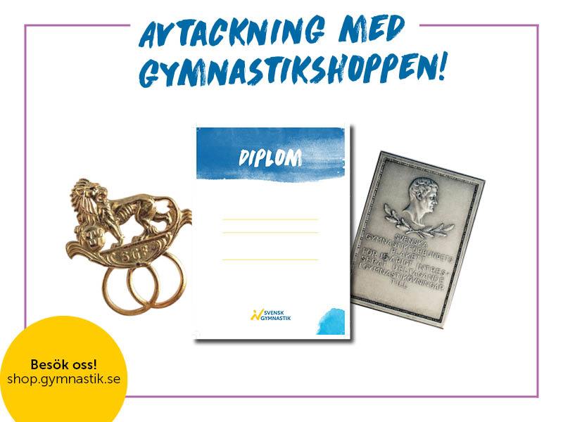 Avtackning, Gymnastikshoppen, Svensk Gymnastik
