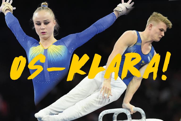 OS 2021, David Rumbutis, Jonna Adlerteg, artistisk gymnastik, Svensk Gymnastik