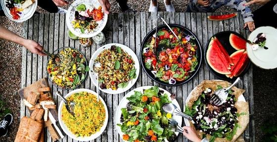 Vegetarisk buffé och recept
