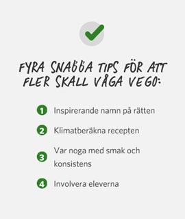 Gröna tips från Findus kockar