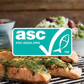 ASC-märkt ansvarsfullt odlad laxfilé med skinn från Findus